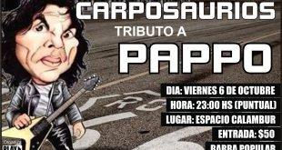 Carposaurios llega con su tributo a Pappo este viernes en Calambur